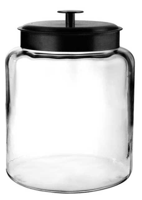 """11.75"""" H x 8.62"""" W x 8.62"""" D Montana Glass 8 qt. Storage Jar with Lid - Wayfair"""