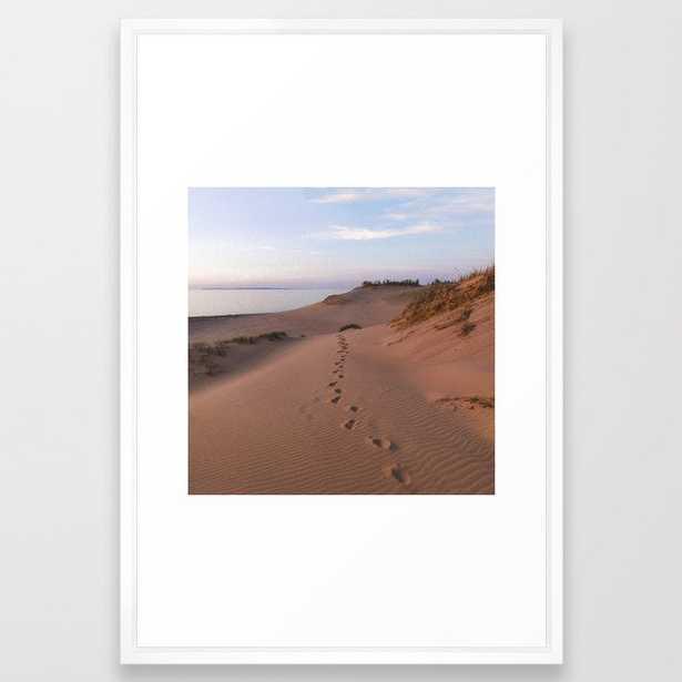 Sunset Dune Hike   Sleeping Bear Dunes, Michigan   John Hill Photography Framed Art Print - Society6
