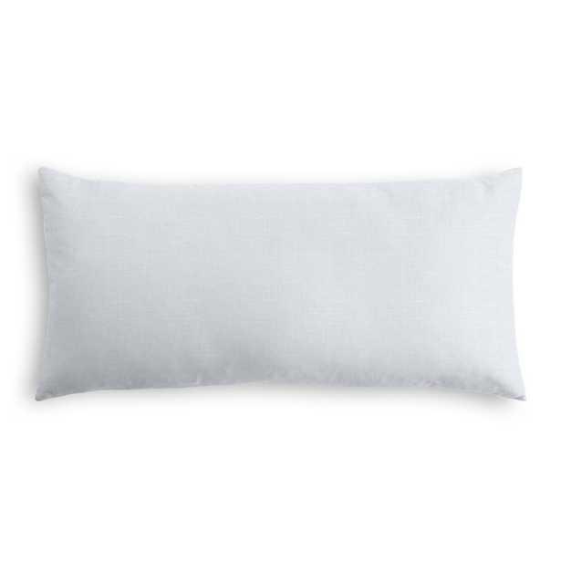 "Classic Linen Pillow, Pale Blue, 12"" x 18"" Lumbar - Havenly Essentials"
