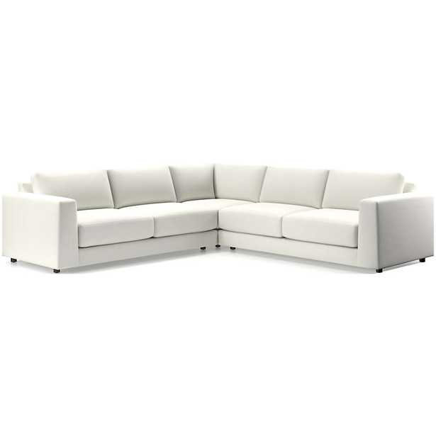 Peyton 3-Piece Sectional - NORDIC FROST - Crate and Barrel