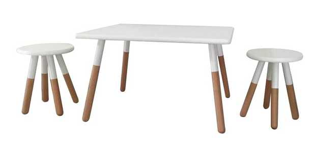 Dansby Kids 3 Piece Writing Table and Stool Set - Wayfair