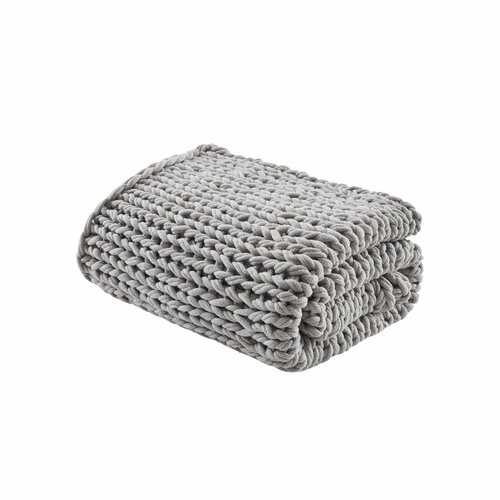Tazewell Chunky Double Knit Throw - gray - Wayfair