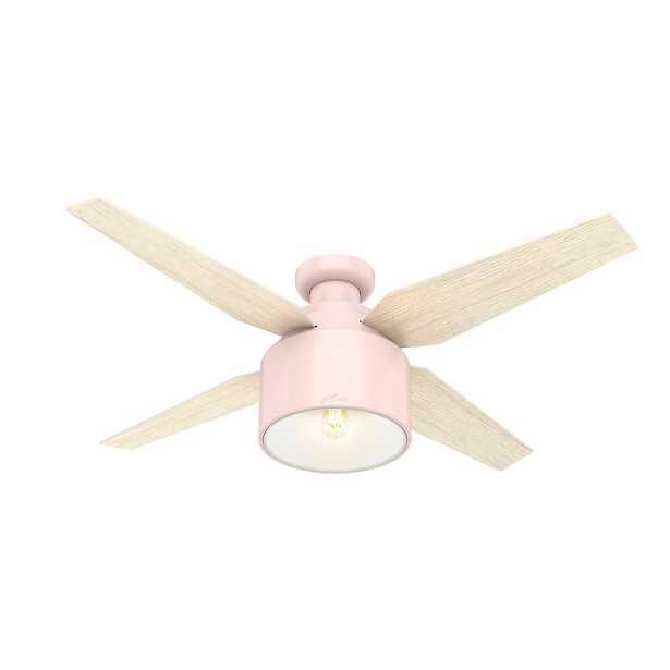 Hunter Cranbrook 52 in. LED Low Profile Indoor Blush Pink Ceiling Fan - Home Depot
