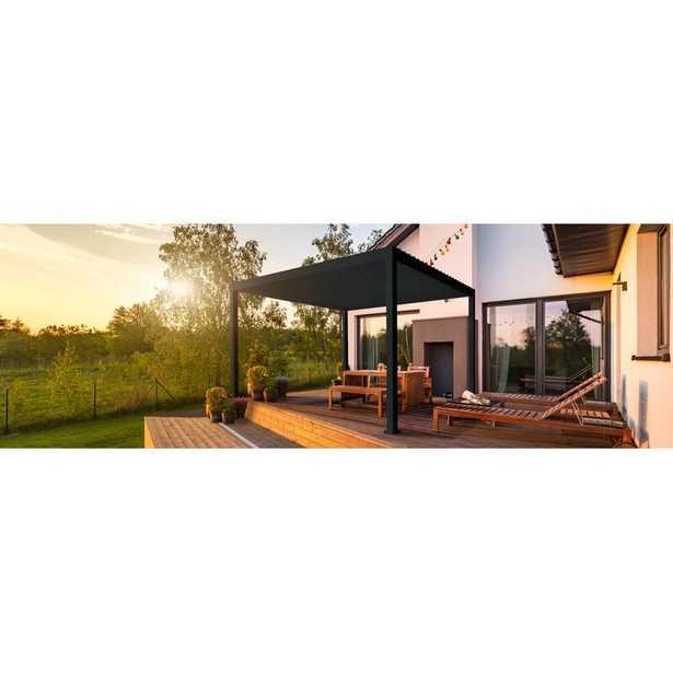 SORARA 13 Ft. W X 10 Ft. D Aluminum Outdoor Adjustable Louvered Canopy Pergola Deck Garden Patio Gazebo - Wayfair
