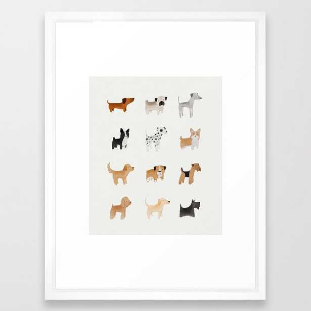 Lots of Cute Doggos Framed Art Print - Society6