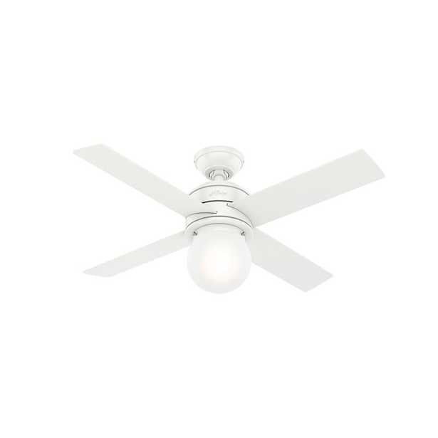 """44"""" Hepburn 4 - Blade Standard Ceiling Fan with Wall Control and Light Kit Included - Wayfair"""