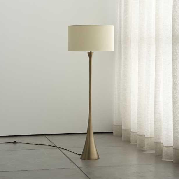 Melrose Brass Floor Lamp - Crate and Barrel
