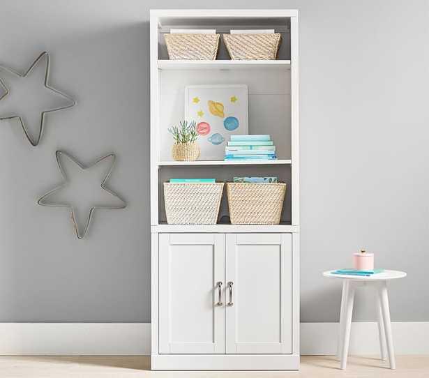 Preston 1 Bookcase Hutch, 1 Cabinet Base Set, Simply White, Flat Rate - Pottery Barn Kids