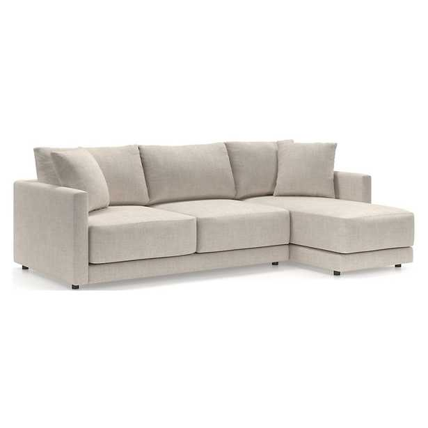 Gather 2-Piece Sectional with Right-Arm Chaise - Crate and Barrel