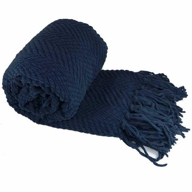 Nader Tweed Knitted Throw - Birch Lane