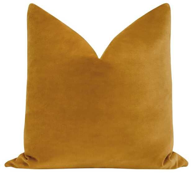 Sonoma Velvet // Curry Pillow Cover - Little Design Company