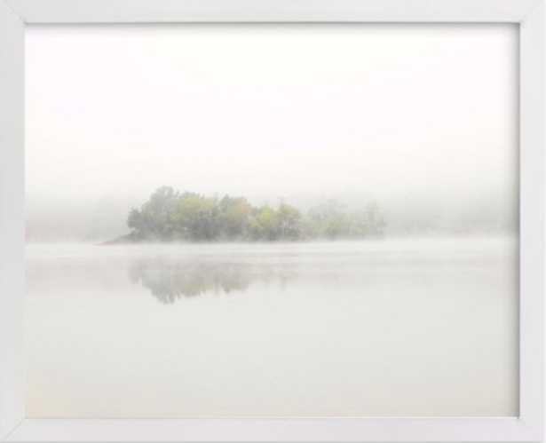 "The Island - 10"" x 8"" - classic white wood frame - Minted"