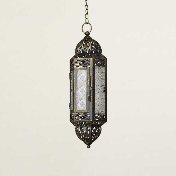 Kaliska Hanging Glass and Metal Lantern - Wayfair
