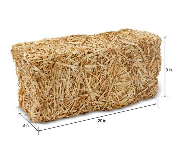 FloraCraft Decorative Straw Bale 8 in. x 9 in. x 20 in. Natural - Home Depot