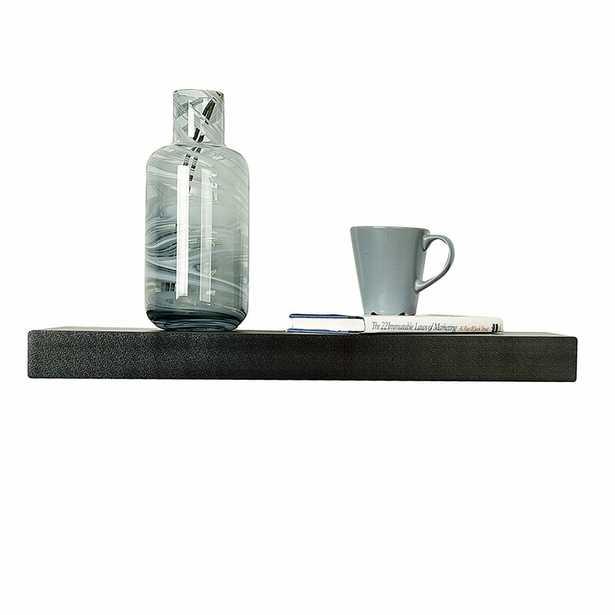 "Bovina Floating Shelf, Black, 2"" H x 48"" W x 9.25"" D Size - Wayfair"