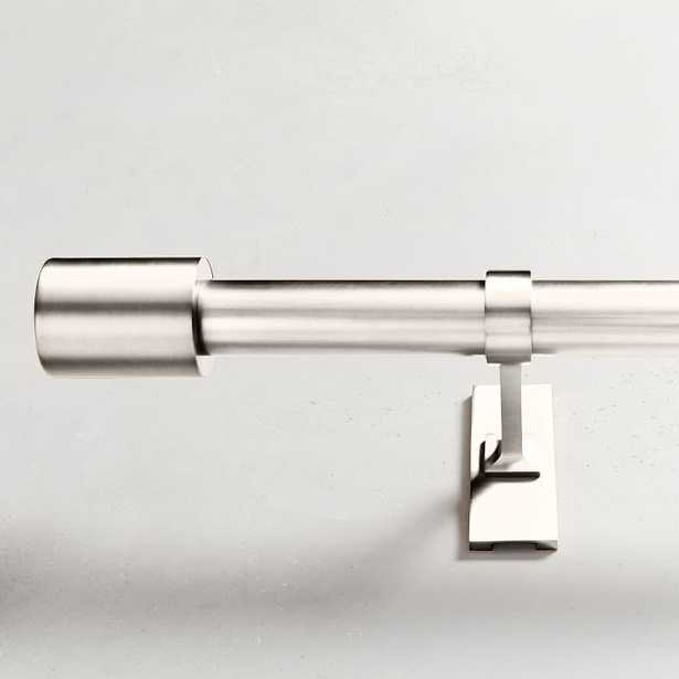 """Oversized Adjustable Metal Rod - Polished Nickel, 48"""" - 88"""" - West Elm"""