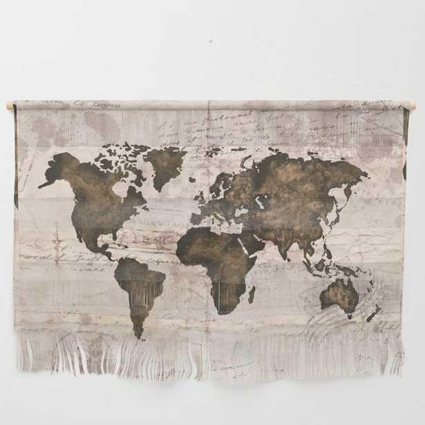 Coffee World Map Wall Hanging - Society6