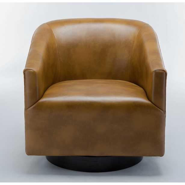 "Mcintyre Swivel 22.75"" W Barrel Chair - Camel - AllModern"