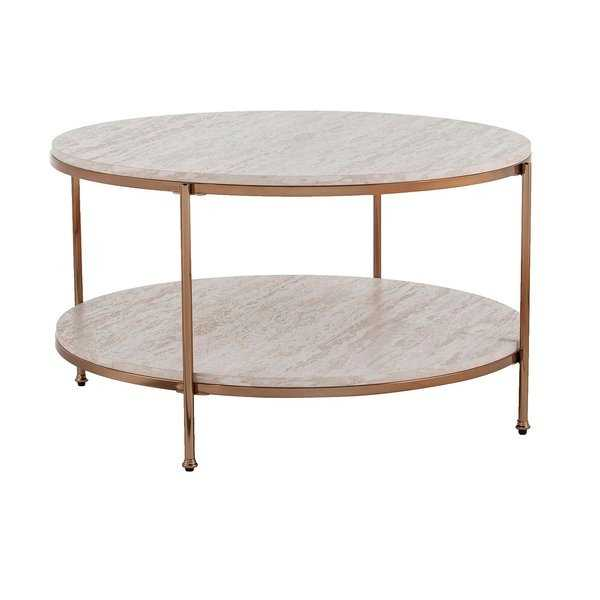 Stamper Faux Stone Coffee Table - AllModern
