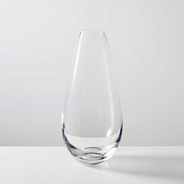 """Foundations Mixed Material Collection - Glass tapered vase - 10"""" - West Elm"""