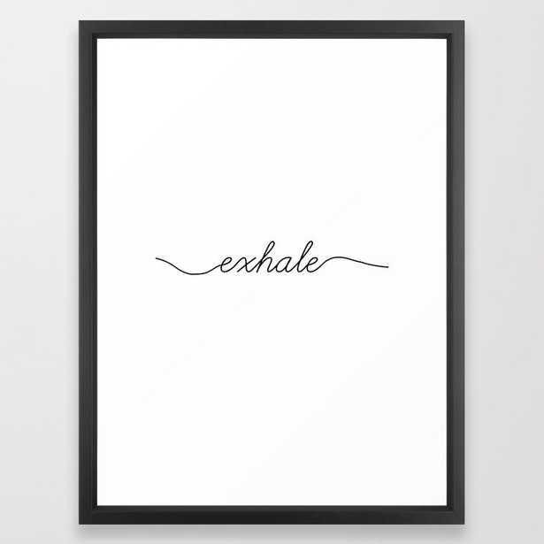 inhale exhale (2 of 2) Framed Art Print - Society6