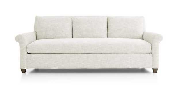 Cortina Sofa - Fabric: Winward, Snow Leg:Smoke Cushion:Natural Lee - Crate and Barrel