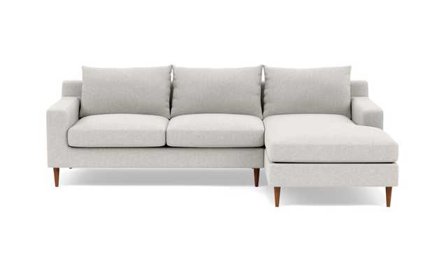 """SLOAN Sectional Sofa with Right Chaise - 100"""" - Pebble - Interior Define"""