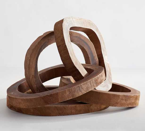 Wooden Links Decorative Object, Large - Pottery Barn
