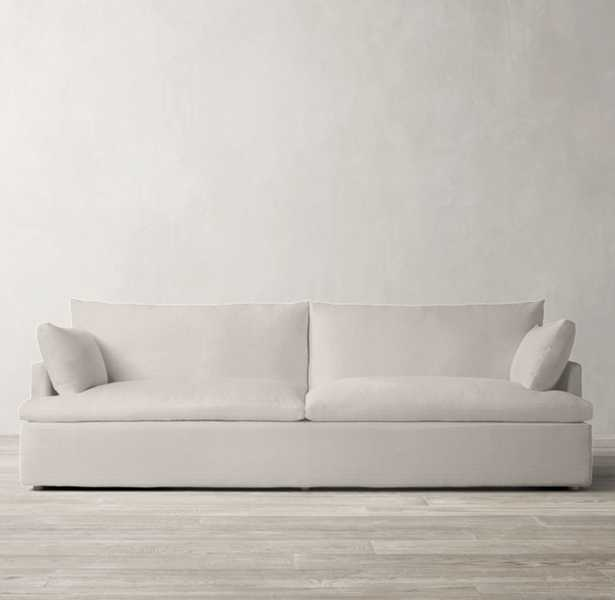 Cloud Track Arm Two-Seat Cushion Sofa - Luxe, 9', Feather Wrapped Core, Washed Belgian Linen, Bisque - RH