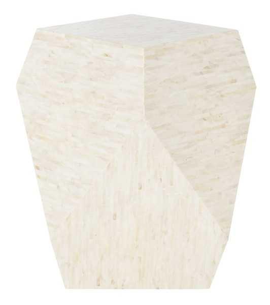 Lea Mosaic Geometric Side Table - Multi Light Beige - Arlo Home - Arlo Home