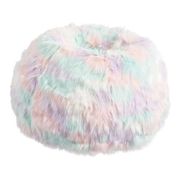 Unicorn Faux-Fur Bean Bag Chair Slipcover, Large + Slip Cover - Pottery Barn Teen
