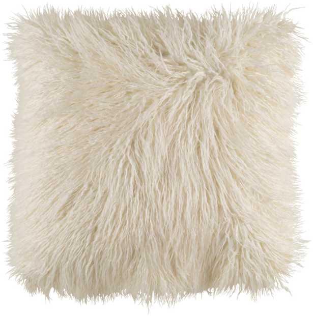 "Kharaa - KHR-005 - 18"" x 18"" - pillow cover only - Faux Fur - Neva Home"