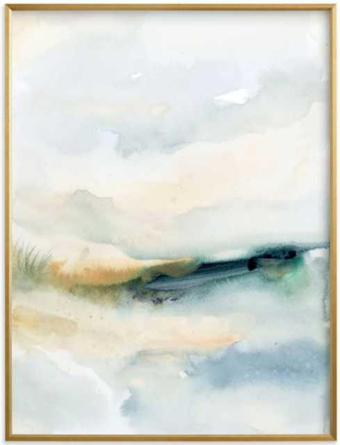 Sea Mood II, 30 X 40, Gilded Wood - Minted