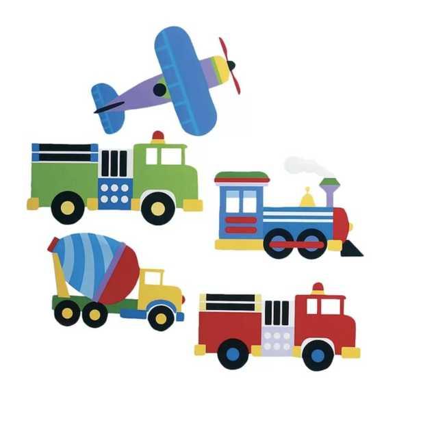 Kids Trains, Planes and Trucks Wall Decal - Wayfair
