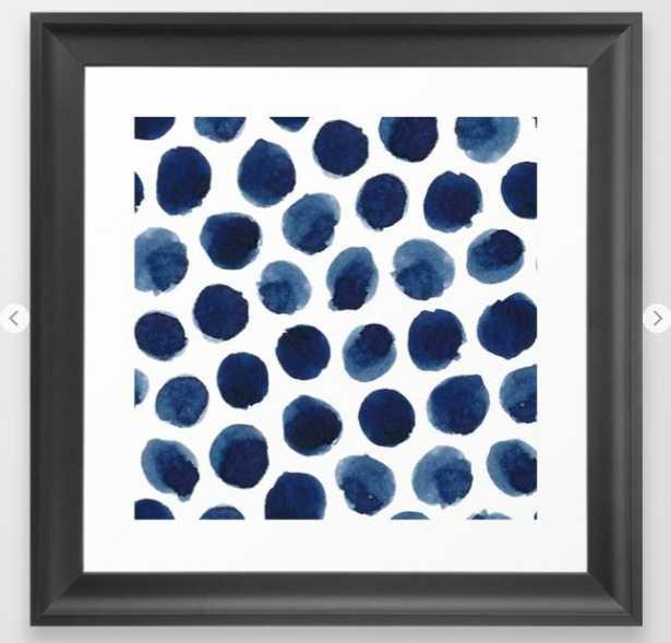 Watercolor polka dots Framed Art Print - Society6