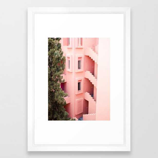 Muralla Roja photography print | abstract travel art | escher like building architecture photo Framed Art Print - Society6