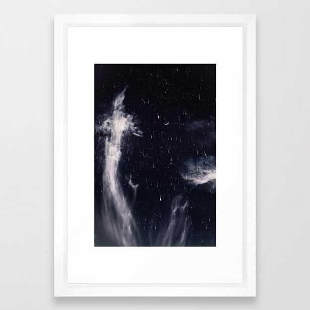 "Falling stars - 15"" x 21"" - vector white - Society6"
