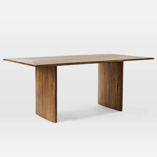 Anton Solid Wood Dining Table, Burnt Wax - West Elm