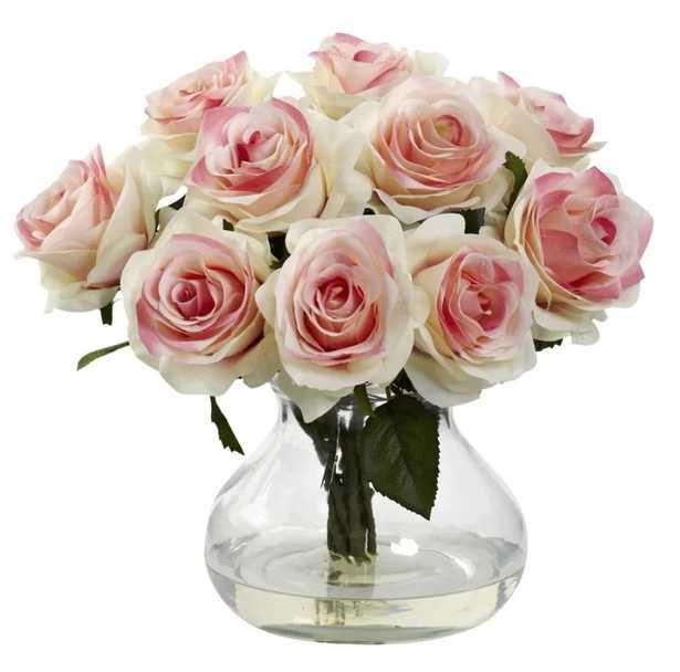 World Menagerie Rose Centerpiece in Vase - Wayfair