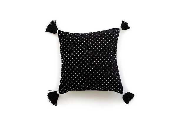 P0663 White / Black Pillow Cover - Loma Threads