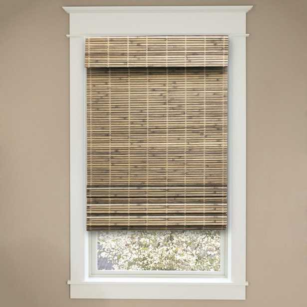 Cut-to-Size Driftwood Cordless Light-Filtering UV Protection Bamboo Shades 31 in. W x 72 in. L. (Actual Size-30.5 in W x 72 in L) - Home Depot