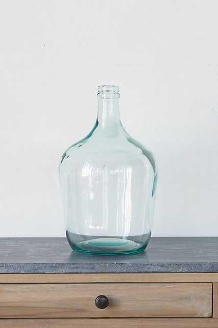 Glass Bottleneck Vase - Anthropologie