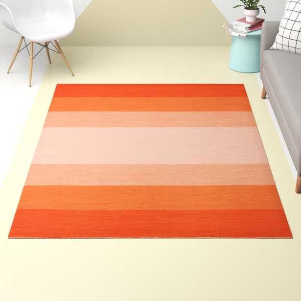 """5' x 7'6"""" Jolie Handwoven Flatweave Cotton Orange Area Rug - Wayfair"""