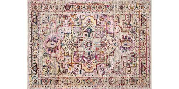 """SIL-03 NATURAL / MULTI - 6' x 6'8"""" - Loma Threads"""