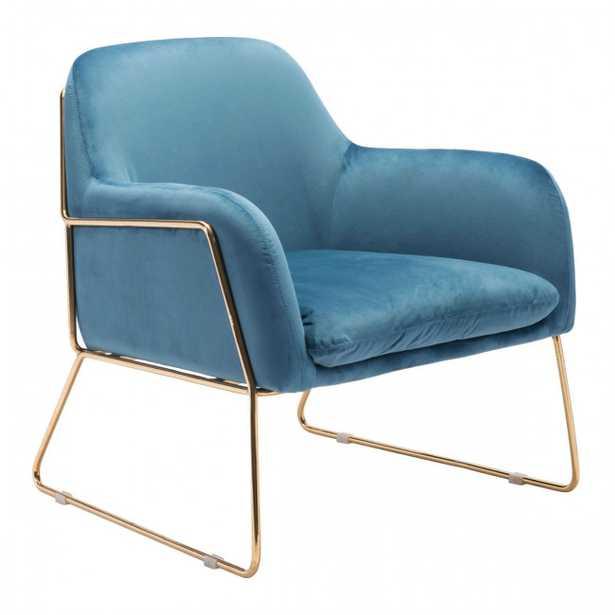 Nadir Arm Chair Blue Velvet - Zuri Studios