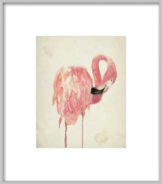 Watercolor Flamingo - Artfully Walls