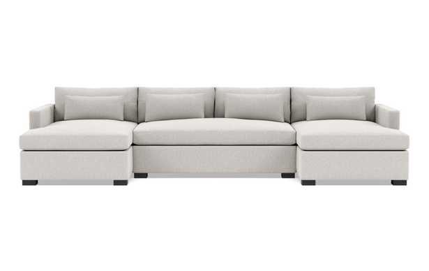 "CHARLY U sectional sofa  -  133""x 37"" d x 20"" h- Pebble - Interior Define"