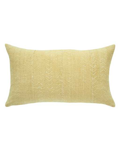 BIRDSEYE MUD CLOTH LUMBAR PILLOW IN FADED BLONDE NORTH SOUTH - PillowPia