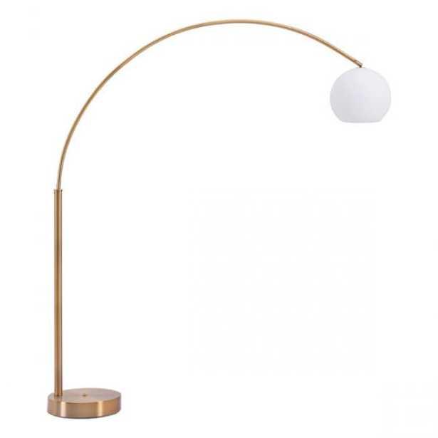 Griffith Floor Lamp Brushed Brass - Zuri Studios