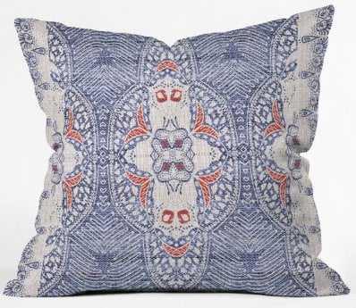 "FRENCH LINEN ZALI Outdoor Throw Pillow - 20"" x 20"" - Wander Print Co."